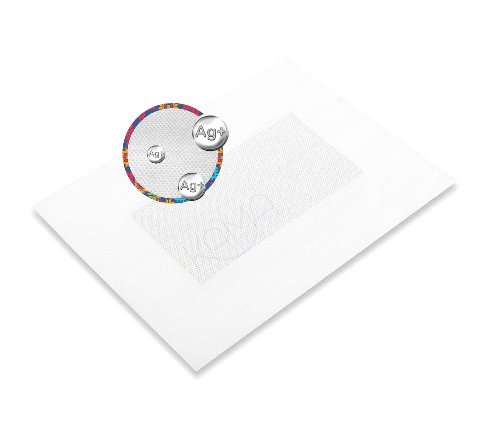 Повязка с серебром послеоперационная пластырная Барьер Аг 10x10 см