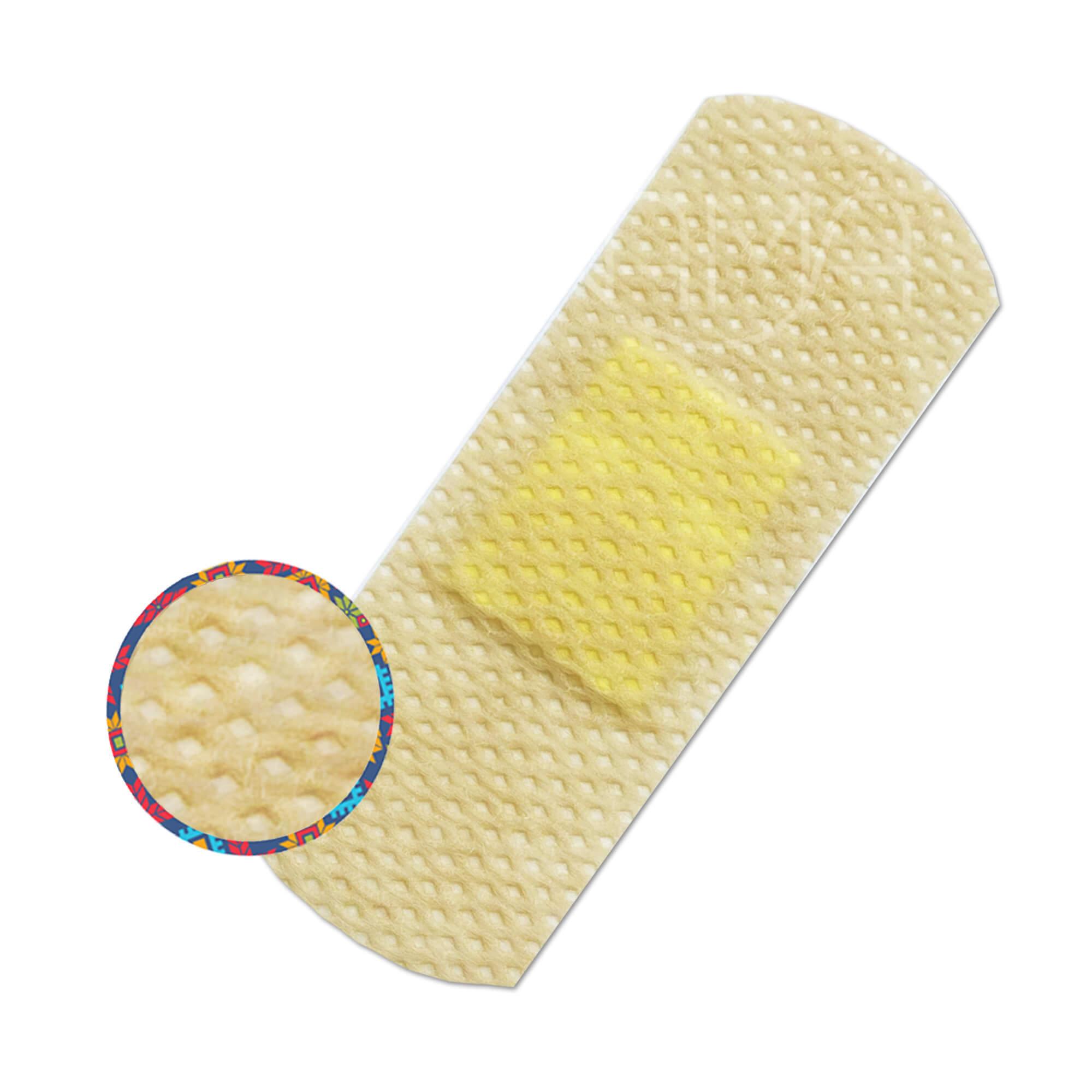 Пластыри бактерицидные на нетканой основе Мультиплекс Деликат телесные, 3 размера,  №15