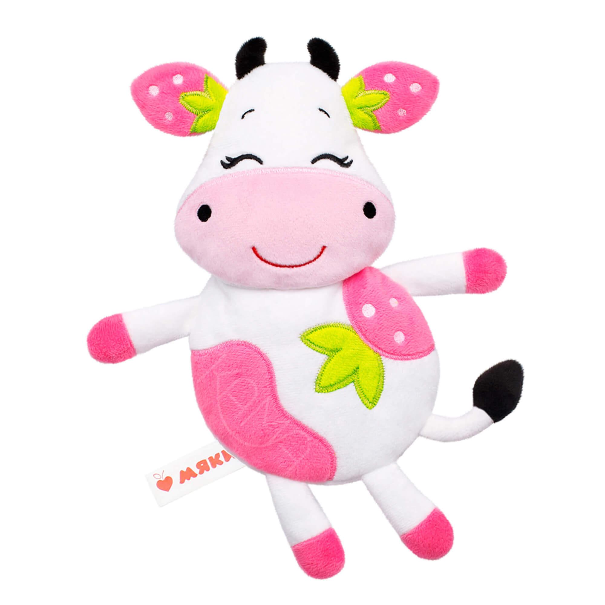 Игрушка-грелка с вишневыми косточками Клубничная Корова