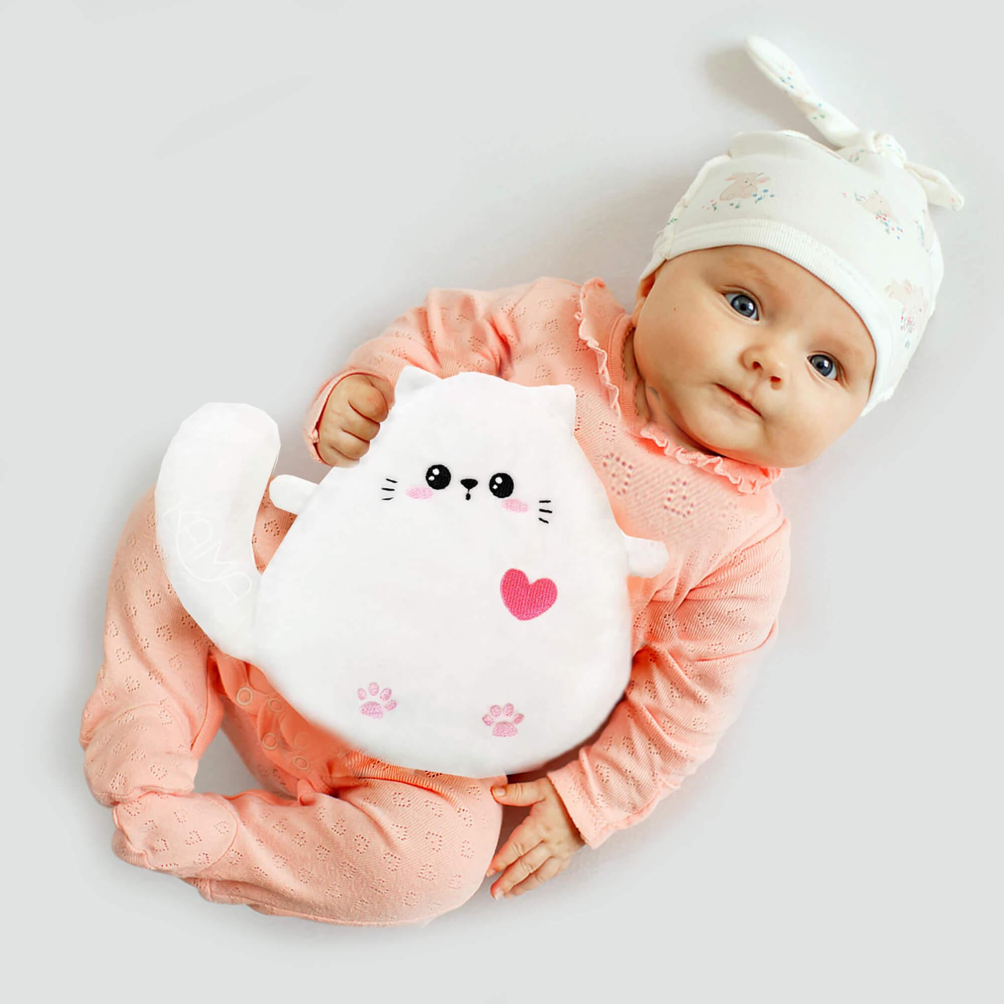 Игрушка-грелка с вишневыми косточками Белый Котёнок